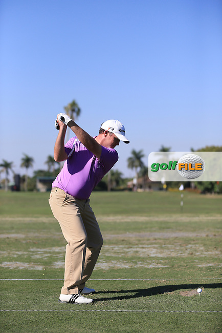 Marcus Frazer (AUS) on the range during the WGC Cadillac championship at Doral Golf Resort & Spa,Doral, Florida,USA..Picture: Fran Caffrey / www.golffile.ie ..