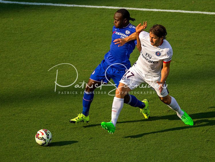 Chelsea vs. Paris Saint-Germain during their International Champions Cup match at Bank of America Stadium in Charlotte, North Carolina. Chelsea won 2-1 on penalty kicks.<br /> <br /> Charlotte Photographer - PatrickSchneiderPhoto.com