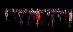 Frances Jue, Megan McGinnis, Harriet Harris, Gavin Creel, Sutton Foster, Sheryl Lee Ralph, Marc Kudisch, Darren Lee and Anne L. Nathan during the curtain Call bows for the Actors Fund's 15th Anniversary Reunion Concert of 'Thoroughly Modern Millie' on February 18, 2018 at the Minskoff Theatre in New York City.