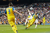 13th September 2017, Santiago Bernabeu, Madrid, Spain; UCL Champions League football, Real Madrid versus Apoel; Sergio Ramos Garcia (4) Real Madrid scoring his team´s 3rd goal
