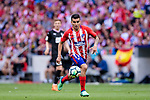 Angel Correa of Atletico de Madrid runs with the ball during the La Liga match between Atletico Madrid and Eibar at Wanda Metropolitano Stadium on May 20, 2018 in Madrid, Spain. Photo by Diego Souto / Power Sport Images