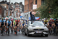 race start given by race director Rob Discart <br /> <br /> Baloise Belgium Tour 2019<br /> Stage 4: Seraing – Seraing 151.1km<br /> ©kramon