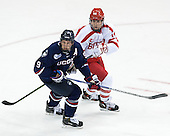 Shawn Pauly (UConn - 9), Bobo Carpenter (BU - 14) - The Boston University Terriers defeated the visiting University of Connecticut Huskies 4-2 (EN) on Saturday, October 24, 2015, at Agganis Arena in Boston, Massachusetts.