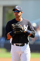 New York Yankees third baseman Alex Rodriguez #13 during a scrimmage against the USF Bulls at Steinbrenner Field on March 2, 2012 in Tampa, Florida.  New York defeated South Florida 11-0.  (Mike Janes/Four Seam Images)