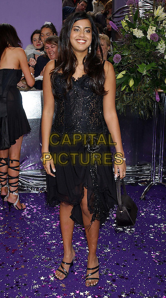 POOJA SHAH.British Soap Awards 2004. BBC Centre, Wood Lane, London.May 8th, 2004.full length, full-length, black dress.www.capitalpictures.com.sales@capitalpictures.com.© Capital Pictures.