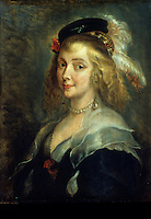 Peter Paul Rubens 1577-1640.  Portrait of Helene Fourment. Bruxelles.  Royal Museum of Beaux-Arts. Reference only.