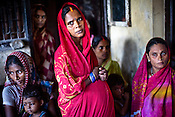 Pregnant women, their children and other village women are seen waiting in the Anganwadi centre (Integrated Child Development Services) to meet the rural health worker  of the Fakirana Sisters Society in Loharpatti Village, in Bettiah of East Champaran district in Bihar. Since 2008 the Foundation and Geneva Global have been investing in the training of medical staff to improve the lives of people living in 600+ villages in the region. The NGOs are delivering cost effective interventions to address treatment, care and prevention of diseases, disability and preventable deaths amongst infants, adolescent girls and women of child-bearing age. There is statistical and anecdotal evidence that there have been vast improvements and a total of 40-50% increased immunization for all children under 6 has meant that communities can be serviced and educated long term. Photograph: Sanjit Das/Panos for Legatum Foundation
