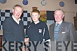 MEDALS: Special guest Michea?l O? Muircheartaigh  of RTE Radio Sports who presented to the  St Brendan's, Ardfert teams their medals on Monday night in Kate Browns, Bar and Restaurant, Ardfert.