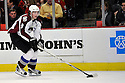 MATT DUCHENE,  of the Colorado Avalanche in action  during the Avalanche game against the Chicago Blackhawks at the United Center in Chicago, IL.  The Colorado Avalanche beat the Chicago Blackhawks 4-3 in Chicago, Illinois on December 15, 2010....