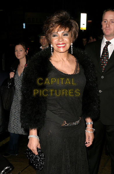 SHIRLEY BASSEY.Sinatra: At The London Palladium - world premiere & press night, London, UK..March 8th, 2006.Ref: AH.half length black fur jacket dress.www.capitalpictures.com.sales@capitalpictures.com.© Capital Pictures.