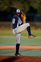 Michael Harris II during the WWBA World Championship at the Roger Dean Complex on October 20, 2018 in Jupiter, Florida.  Michael Harris II is a left handed pitcher from Ellenwood, Georgia who attends Stockbridge High School.  (Mike Janes/Four Seam Images)