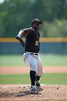 Pittsburgh Pirates Cesilio Pimentel (93) during a minor league Spring Training game against the New York Yankees on April 1, 2016 at Pirate City in Bradenton, Florida.  (Mike Janes/Four Seam Images)