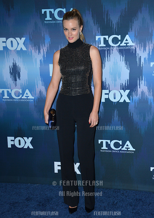 Leighton Meester at the Fox Winter TCA 2017 All-Star Party at the Langham Huntington Hotel, Pasadena, USA 11th January  2017<br /> Picture: Paul Smith/Featureflash/SilverHub 0208 004 5359 sales@silverhubmedia.com