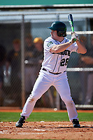 Dartmouth Big Green left fielder Ben Socher (26) at bat during a game against the Iowa Hawkeyes on February 27, 2016 at South Charlotte Regional Park in Punta Gorda, Florida.  Iowa defeated Dartmouth 4-1.  (Mike Janes/Four Seam Images)