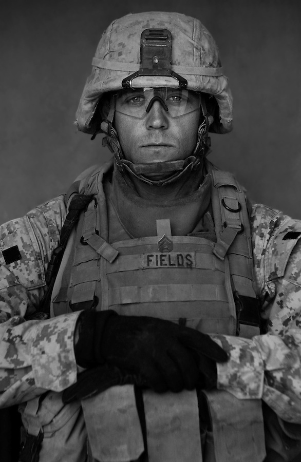 Staff Sgt. Travis Fields, 28, Anderson, South Carolina, 3rd Platoon, Kilo Co., 3rd Battalion 1st Marines, 1st Marine Division, United States Marine Corps, at the company's firm base in Haditha, Iraq on Sunday Oct. 22, 2005.