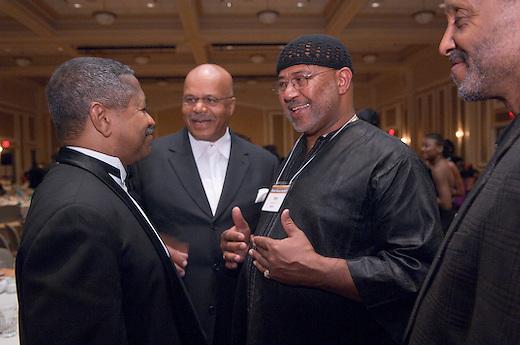 18249Ohio University Black Alumni Reunion: Inaugural Templeton-Blackburn Alumni Gala ...Dr. McDavis, unknown, Huey  Ball '67, Leon Hogg '68