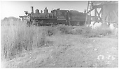Fireman's-side view of D&amp;RGW #360 taking on water.<br /> D&amp;RGW    Taken by Rogers, Donald E. A.