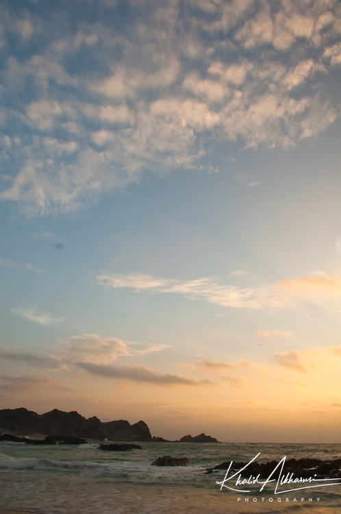 Sunset in Ras Madrakah, AlWasta Governorate
