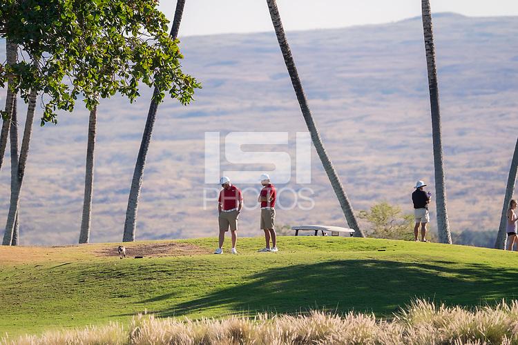 Waikoloa, HI. - February 1, 2018: The Stanford Men's Golf Team competes at the 2018 Amir Ari Intercollegiate Golf Tournament on the Kings Course at Waikoloa Golf Club.