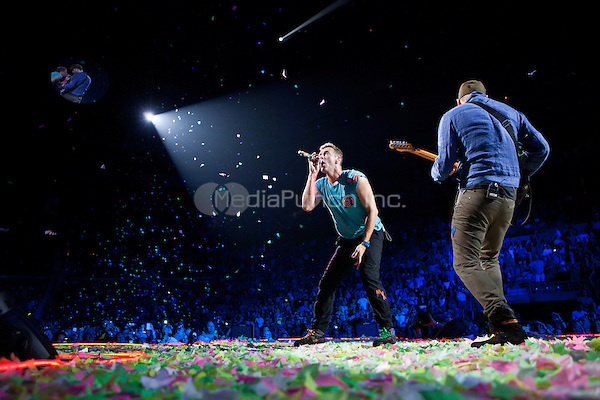 AUBURN HILLS, MI - AUGUST 1: Coldplay in concert at The Palace of Auburn Hills in Auburn Hills, Michigan. August 1, 2012. Credit MediaPunch Inc.