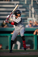 Lake Elsinore Storm center fielder Edward Olivares (11) at bat during a California League game against the Modesto Nuts at John Thurman Field on May 11, 2018 in Modesto, California. Modesto defeated Lake Elsinore 3-1. (Zachary Lucy/Four Seam Images)