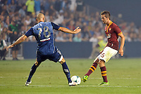 Sporting Park, Kansas City, Kansas, July 31 2013:<br /> Miralem Pjanic (15) midfield AS Roma in action.<br /> MLS All-Stars were defeated 3-1 by AS Roma at Sporting Park, Kansas City, KS in the 2013 AT & T All-Star game.