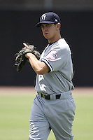 July 12, 2009:  Pitcher Pat Venditte of the Tampa Yankees during a game at Dunedin Stadium in Dunedin, FL.  Tampa is the Florida State League High-A affiliate of the New York Yankees.  Photo By Mike Janes/Four Seam Images