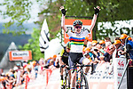 World Champion Anna van der Breggen (NED) Boels Dolmans Cyclingteam wins her 5th consecutive edition atop Mur de Huy at the end of La Fl&egrave;che Wallonne Femmes 2019, running 118.5km from Huy to Huy, Belgium. 24th April 2019<br /> Picture: ASO/Thomas Maheux | Cyclefile<br /> All photos usage must carry mandatory copyright credit (&copy; Cyclefile | ASO/Thomas Maheux)