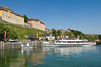 DEU, Deutschland, Baden-Wuerttemberg, Meersburg am Bodensee: Schiffsanlegestelle in der Unterstadt | DEU, Germany, Baden-Wuerttemberg, Meersburg at Lake Constance: landing stage at down town