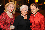 From left: Becky Cook, Jane Ellis and Jane DiPaolo Teague at the Denton A. Cooley Leadership Award Dinner benefitting Texas Heart Institute at the Hilton American Houston Wednesday Feb. 03,2010.(Dave Rossman Photo)