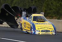 Mar. 17, 2013; Gainesville, FL, USA; NHRA funny car driver Matt Hagan during the Gatornationals at Auto-Plus Raceway at Gainesville. Mandatory Credit: Mark J. Rebilas-