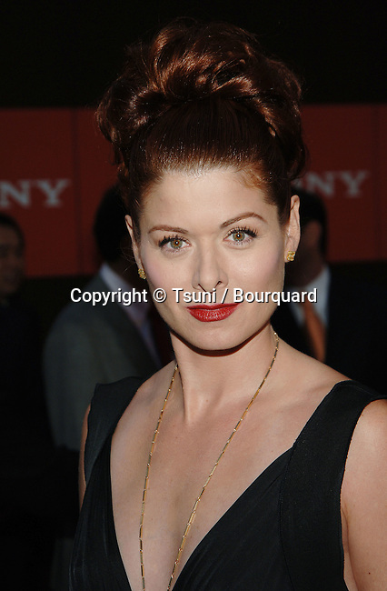 Debra Messing arriving at the Sony's Global Marketing Conference on Rodeo Drive in Beverly Hills in Los Angeles.<br /> <br /> headshot<br /> eye contact<br /> black dress