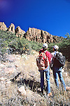 Richard & John Discussing Route To Cliff Dwelling On Mustang Ridge, Apache Reservation