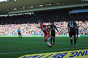 5th November 2017, Riverside Stadium, Middlesbrough, England; EFL Championship football, Middlesbrough versus Sunderland; Marcus Tavernier of Middlesbrough runs to celebrate scoring to make it 1-0 in the 6th minute