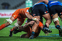 Action from the Super Rugby match between the Blues and Jaguares at Eden Park in Auckland, New Zealand on Friday, 28 April 2018. Photo: Dave Lintott / lintottphoto.co.nz