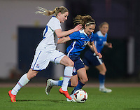 Lagos, Portugal - March 9, 2015: The USWNT tied Iceland 0-0 in their final group match at the Algarve Cup.