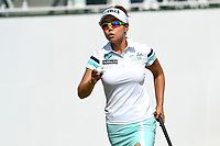 PATTAYA, THAILAND - FEBRUARY 22: Jenny Shin of South Korea finishing-up on 18th during the second round of the Honda LPGA Thailand 2019 at Siam Country Club Pattaya (Old Course), Pattaya, Thailand on February 22, 2019.<br /> .<br /> .<br /> .<br /> (Photo by: Naratip Golf Srisupab/SEALs Sports Images)<br /> .<br /> Any image use must include a mandatory credit line adjacent to the content which should read: Naratip Golf Srisupab/SEALs Sports Images