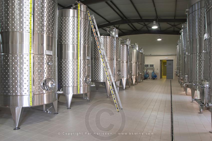 Fermentation tanks. Ktima Pavlidis Winery, Drama, Macedonia, Greece
