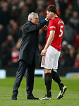 Tottenham Hotspur's Manager Jose Mourinho (L) congratulates Manchester United's Harry Maguire after the Premier League match at Old Trafford, Manchester. Picture date: 4th December 2019. Picture credit should read: Darren Staples/Sportimage