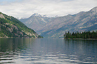 Uplake view from ferry on Lake Chelan en route to Stehekin, North Cascades National Park, Washington State