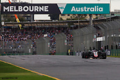 24th March 2018, Melbourne Grand Prix Circuit, Melbourne, Australia; Melbourne Formula One Grand Prix, qualifying; The number 8 Haas driven by Romain Grosjean