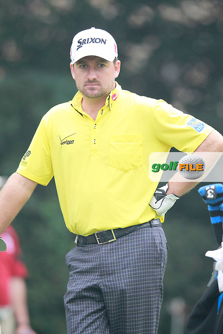 Graeme McDowell (ENG) on the 16th tee during Sunday's Final Round of the 2013 WGC-HSBC Champions held at the Sheshan International Golf Club, Shanghai, China. 3rd November 2013.<br /> Picture: Eoin Clarke/www.golffile.ie