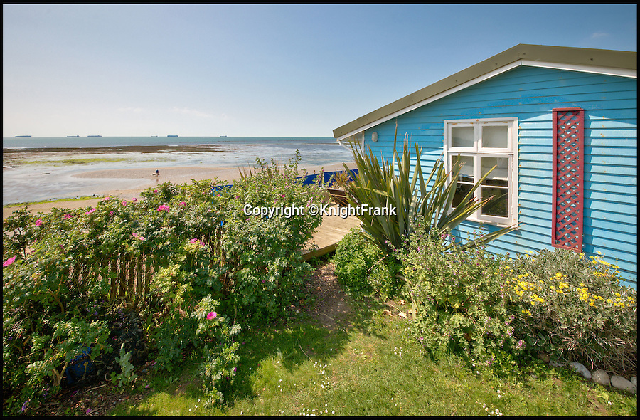 """BNPS.co.uk (01202 558833)<br /> Pic: KnightFrank/BNPS<br /> <br /> This quaint beach hut is the perfect spot for those dreaming of living by the sea - and you also get a seven-bedroom house for the £2.24million price tag.<br /> <br /> Ledge House on the Isle of Wight is one of very few properties on the island that has direct access to the beach and the house and gardens take full advantage of the breathtaking views.<br /> <br /> While the house itself is impressive, with more than 4,000 sq ft of living space and beautiful gardens, the Boat House and Beach Hut set down by the beach are the real selling point. <br /> <br /> Owner Georgie Donnelly described them as being like """"another world"""", completely secluded from the main house and above prying eyes from the beach."""