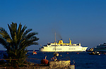 Fred Olsen inter island ferry leaving Los Cristianos, Tenerife. Destination, San Sebastian, La Gomera,Canary Islands, Spain