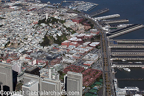 aerial photograph Embarcadero, Telegraph Hill North Beach San Francisco, California