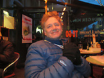 John Kieffer dining out in Amsterdam, Netherlands,