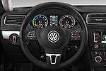Steering wheel view of a 2013 Volkswagen Jetta Comfortline Hybrid Sedan2013 Volkswagen Jetta Comfortline Hybrid Sedan