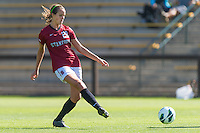 STANFORD, CA - August 31, 2012: Stanford vs Boston College in a women's soccer match in Stanford, California. Stanford tied 1-1.