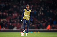 Tyreece John-Jules of Arsenal at half time during the UEFA Europa League match between Arsenal and Qarabag FK at the Emirates Stadium, London, England on 13 December 2018. Photo by Andy Rowland.