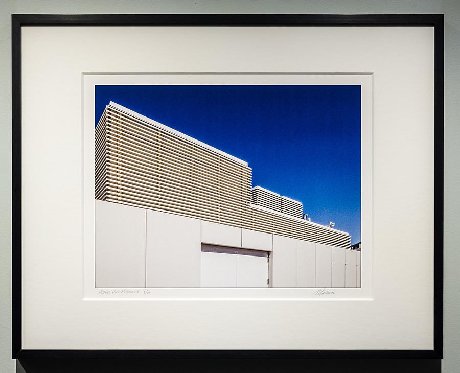 """Framed Size 16""""h x 20""""w, $375<br /> Matte Black Nielsen 117 metal frame with 8-ply mat"""